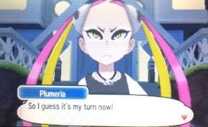 Return to the Aether House to find Plumeria.