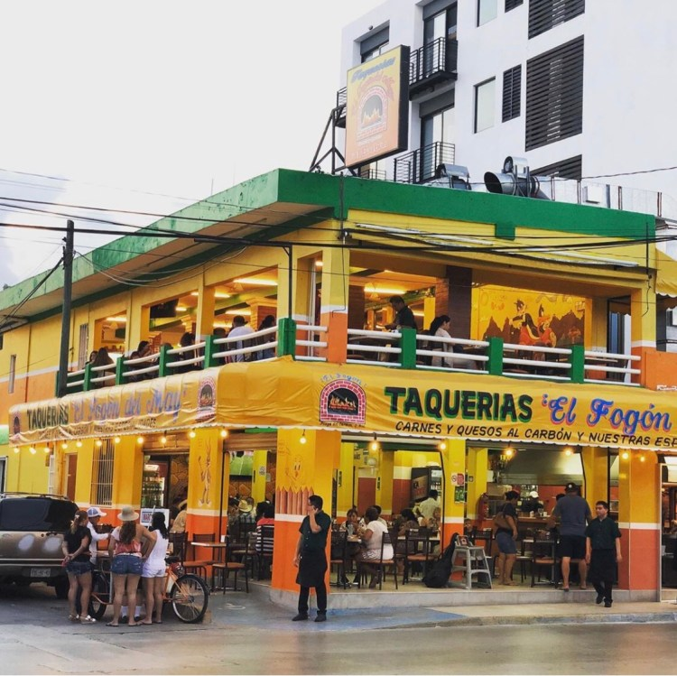 TACOS AL PASTOR AT EL FOGON IN PLAYA DEL CARMEN