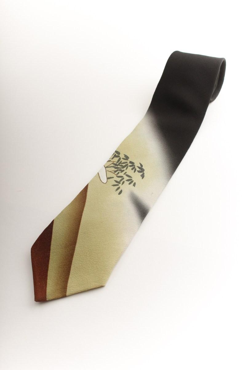 世界で1本  8cm幅レギュラータイ 黒地着物柄 KT10001C