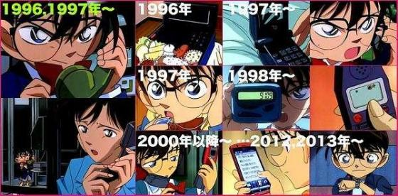 Evolution of the [image] There Detective Conan of the phone is amazing wwwwwwwwwwwwwwwwww