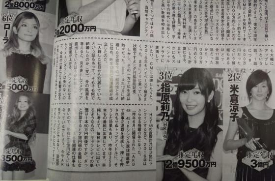 Rino Sashihara's, annual income 300 million yen wwwwwwwwwww