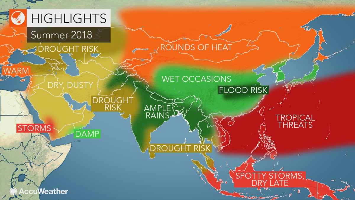 2018 Asia autumn forecast: Japan may face flood threats as drought builds from Ukraine to Kazakhstan - AccuWeather.com