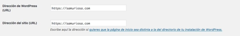 Cambio de URLs en WordPress