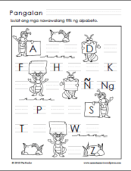 Preschool Alpabeto Worksheets (Part 1) - Samut-samot
