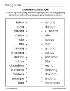 Itambal ang mga Pangngalang Panlalaki at Pambabae_1