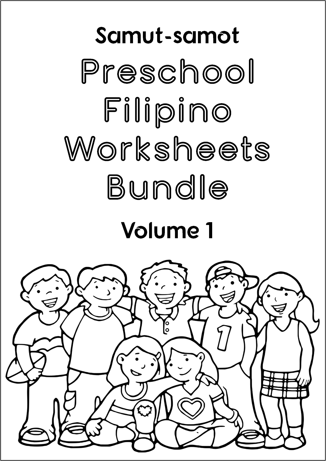 Preschool Filipino Worksheets Bundle Vol 1