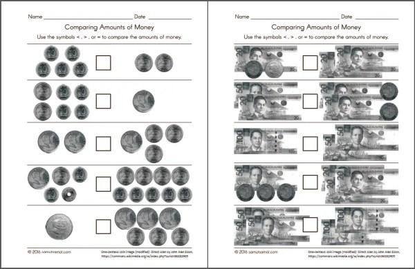 philippine money chart and worksheets samut samot. Black Bedroom Furniture Sets. Home Design Ideas