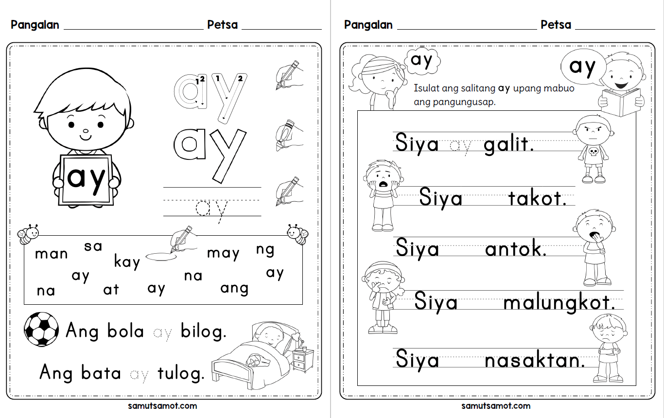 hight resolution of Filipino Sight Words Worksheets - Samut-samot