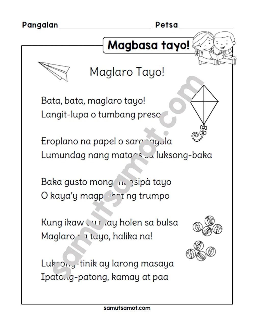 medium resolution of Tula: Maglaro Tayo! - Samut-samot