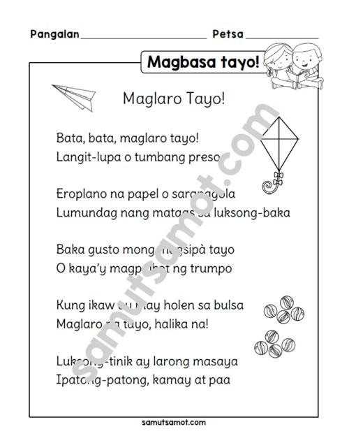 small resolution of Tula: Maglaro Tayo! - Samut-samot