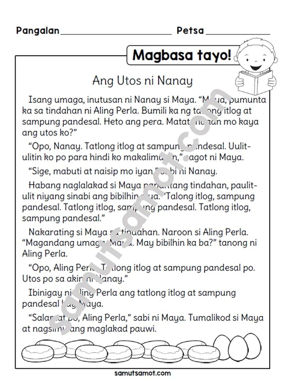 medium resolution of Magbasa Tayo!: Ang Utos ni Nanay - Samut-samot