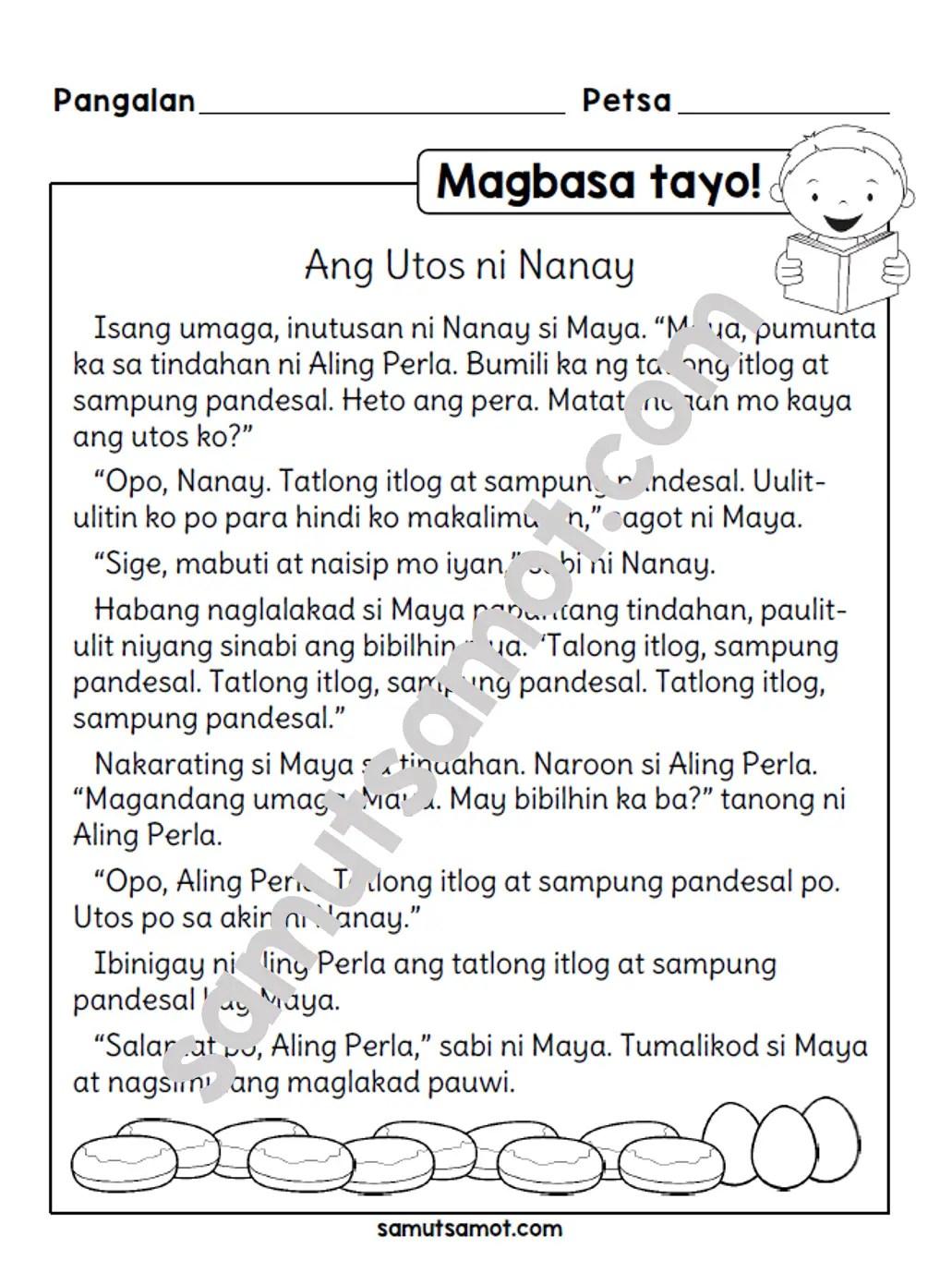 hight resolution of Magbasa Tayo!: Ang Utos ni Nanay - Samut-samot