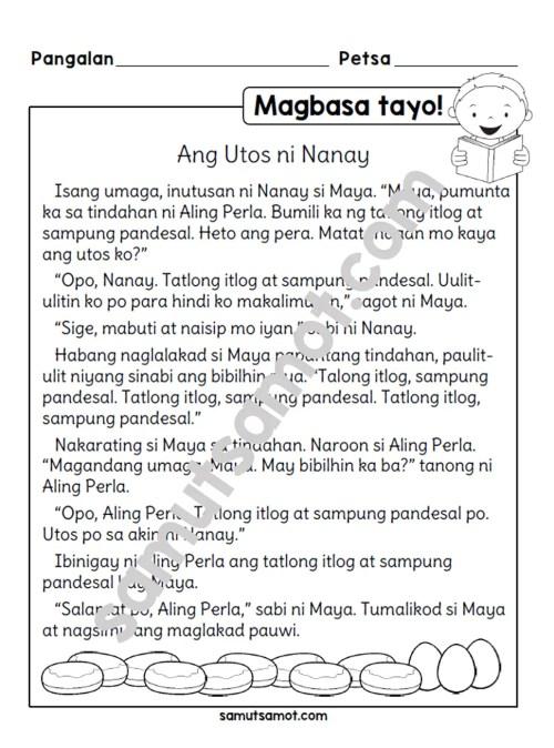 small resolution of Magbasa Tayo!: Ang Utos ni Nanay - Samut-samot