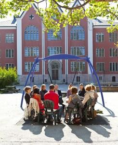 Morgonreflektion 2014 på Samtalsgården kring hur Sverige skulle se ut om Moderaterna hade majoritet i Riksdagen.
