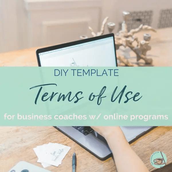 terms of use contract template business coach diy legal templates sam vander wielen coaches entrepreneurs online course online program