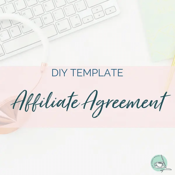 affiliate agreement template affiliate contract template sam vander wielen legal templates entrepreneurs online health coach creatives