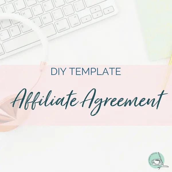 affiliate agreement template affiliate contract template sam vander wielen legal templates entrepreneurs online health coach creatives
