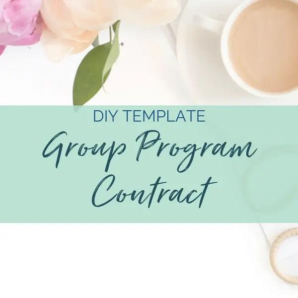 group program contract diy legal templates sam vander wielen llc health coach business coach