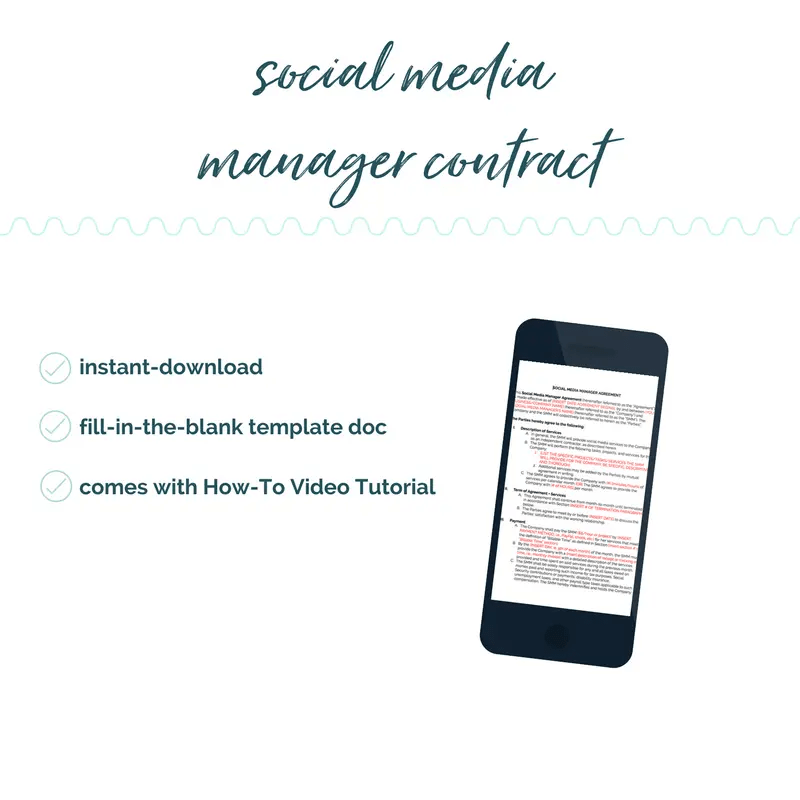 Social Media Manager Contract Template Diy Legal Templates Sam Vander Wielen Assistant Coaches