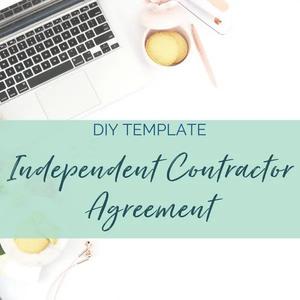 Independent Contractor Agreement sam vander wielen diy legal templates virtual assistant contract health coach business coach