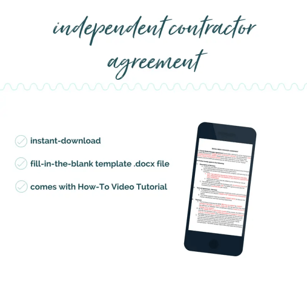 how to fill out independent contractor agreement