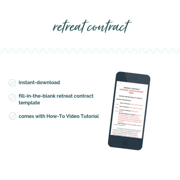 sample contract to run retreat