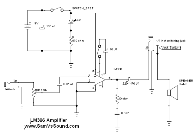 Lm386 Power Amplifier