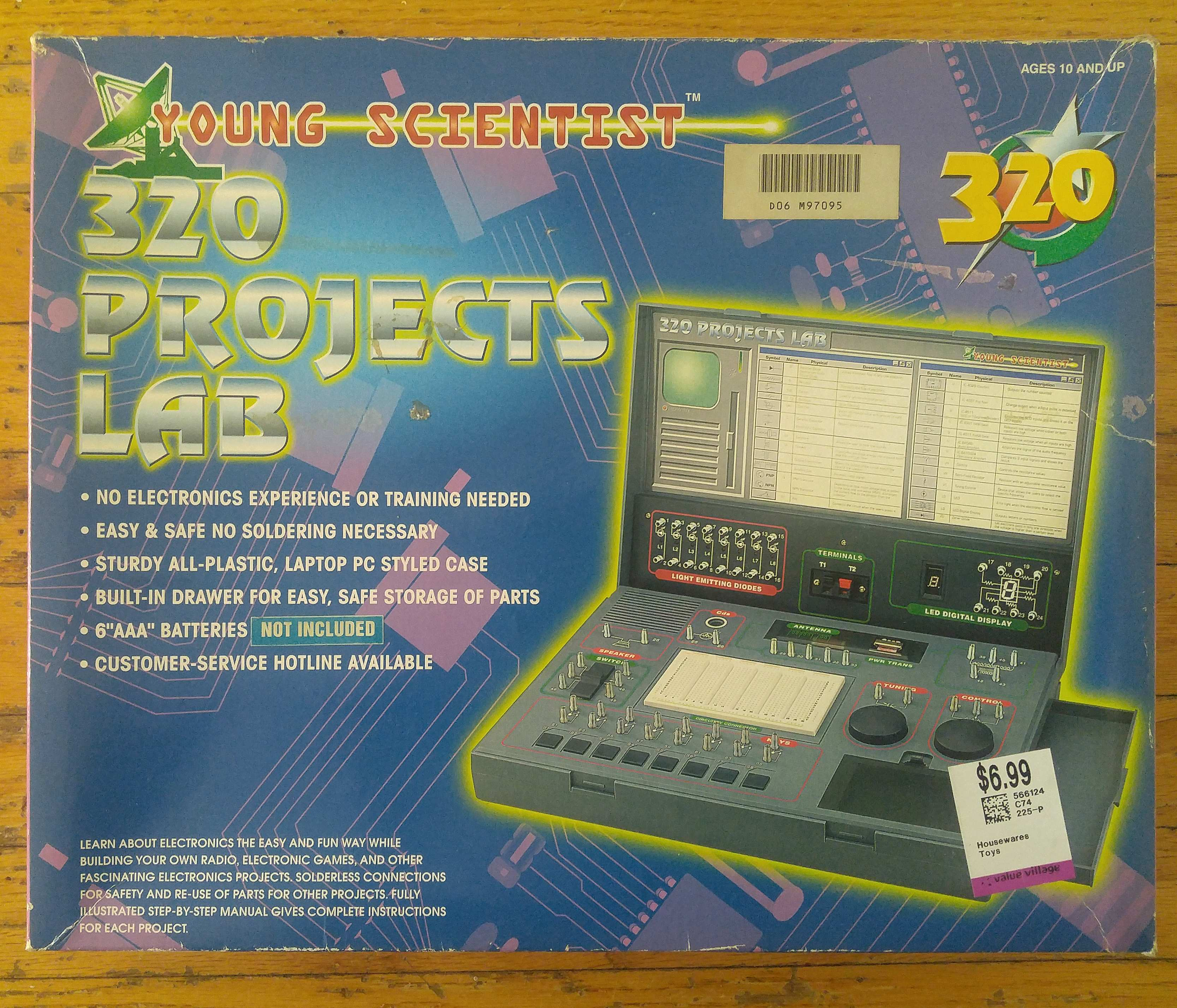 Young Scientist 320 Project Lab Sam Vs Sound Electronics Circuits Projects Electronic Kits Hobby More This Past Week I Was Taking My Usual Trip Through Local Value Village Thrift Store When Came Upon Something Really Rather Cool That Wanted To Share