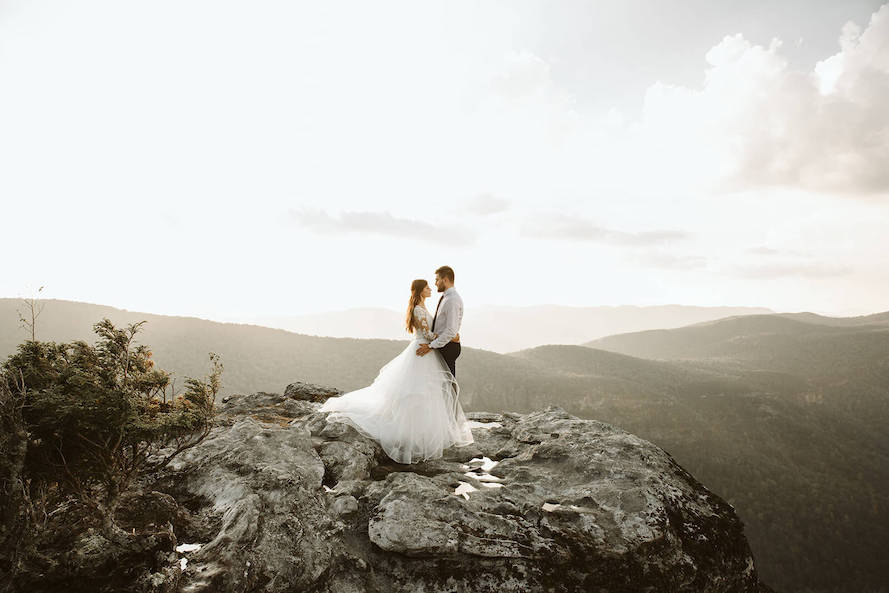 Linville gorge best location for engagement or intimate shoot