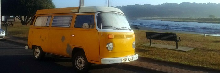vw-camper-beside-river