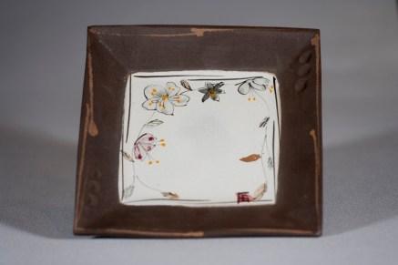 Assiette carrée 20cm G.Noir