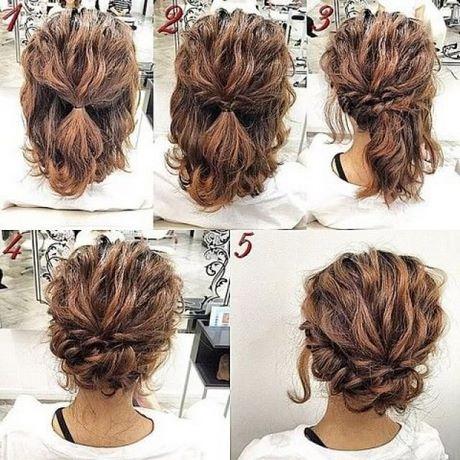 Hochsteckfrisuren kurze haare locken