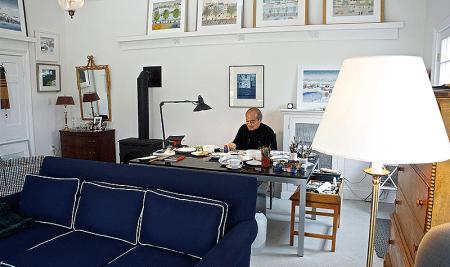 San Murata in his Studio