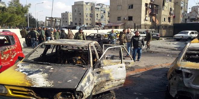 terrorist bombing-car bomb-Masaken Barzeh-Damascus 1