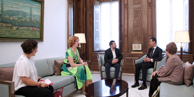 President-al-Assad-European-Parliment-delegation 1