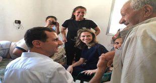 President al-Assad-injured army personnel-Homs 5
