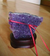 Amethyst Geode with Red String