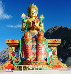 Maitreya Buddha pictured in his original image.