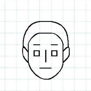マス目の顔10