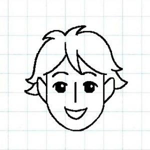 マス目の顔10a