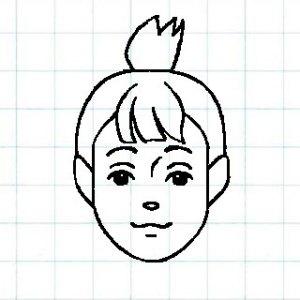 マス目の顔10f