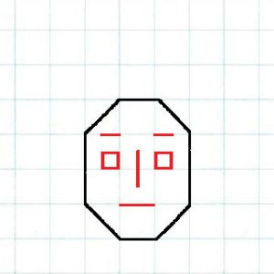 マス目の顔4