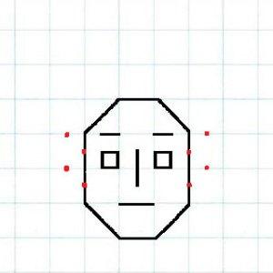 マス目の顔5-0