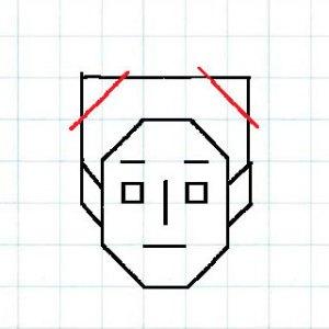 マス目の顔7