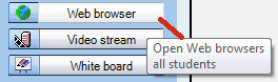 Picture showing where the web browser icon is