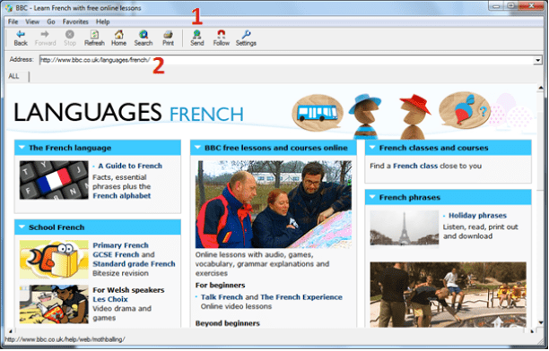 Picture illustrating steps to share a web page to all students