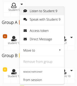 Picture showing communication options with an individual student