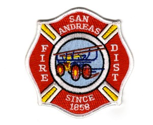 The shoulder patch worn by SAFPD personnel.