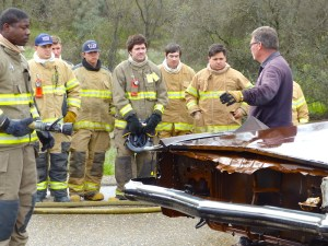 Fire academy training scene