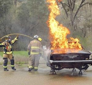 Vehicle fire training
